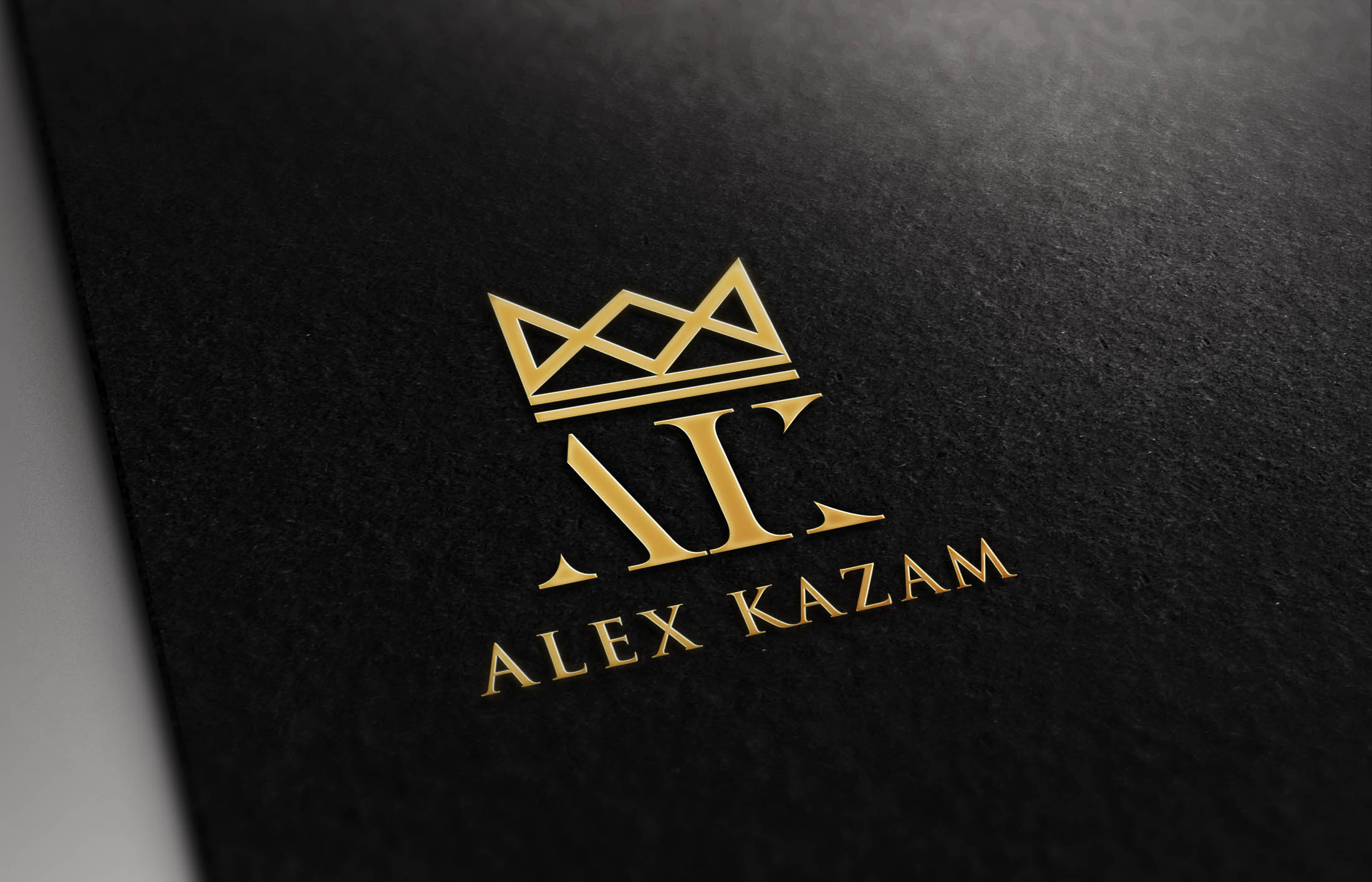 logo alex kazam mock artist graphic ak the mystery magic mentalist mindreader telepath crown