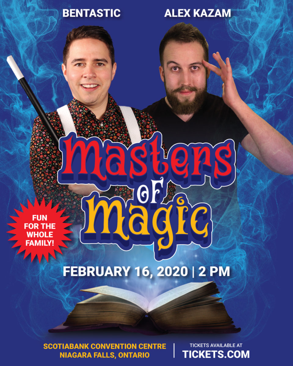 masters of magic, magic show, niagara falls, alex kazam, scotiabank convention centre